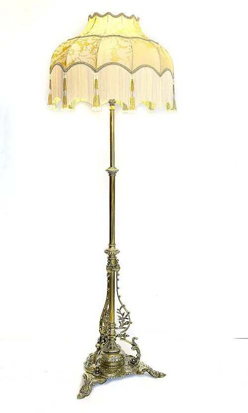 Victorian Brass Standard Lamp in 2020 | Standard lamps, Antique .