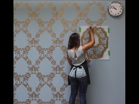 How to Stencil a Feature Wall in Only an Hour - YouTu