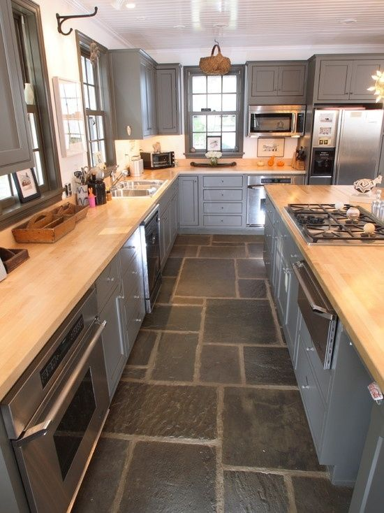 Natural Stone Flooring - Kitchen by regina kind | Eclectic kitchen .