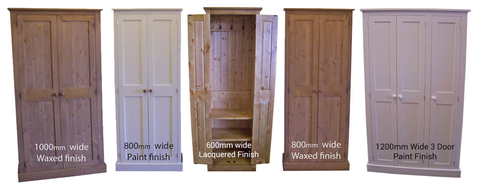Hall Coat Storage Cupboards – Cheshire Pine and O