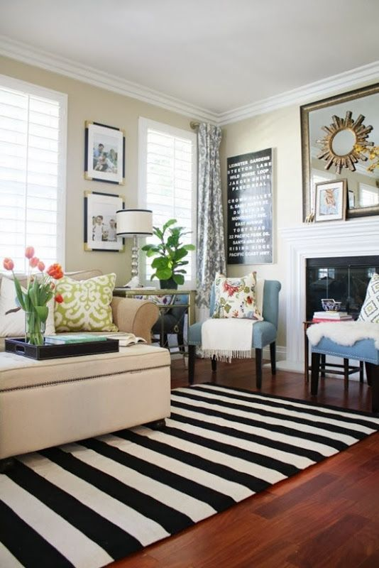 A New Living Room Rug: Stripes for the Win   Rugs in living room .