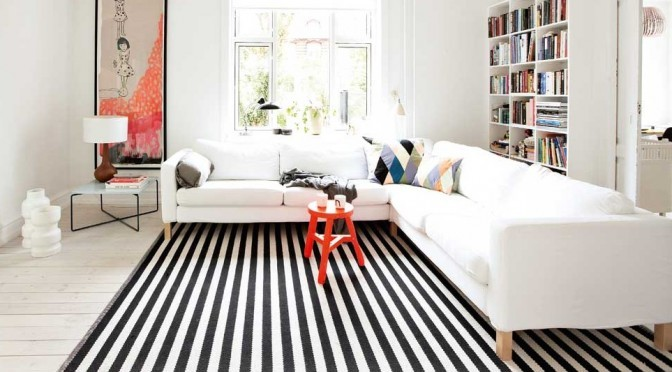 Tip Of The Week: Black and White Striped Rugs | Décor A
