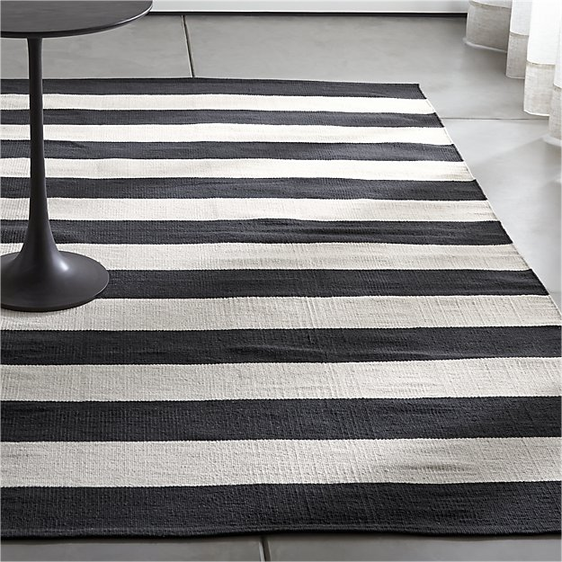 The Significance Of Black And White Striped Rug | Striped rug .