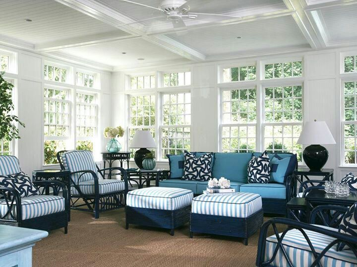 Sunroom, better be getting some more furniture | Sunroom furniture .