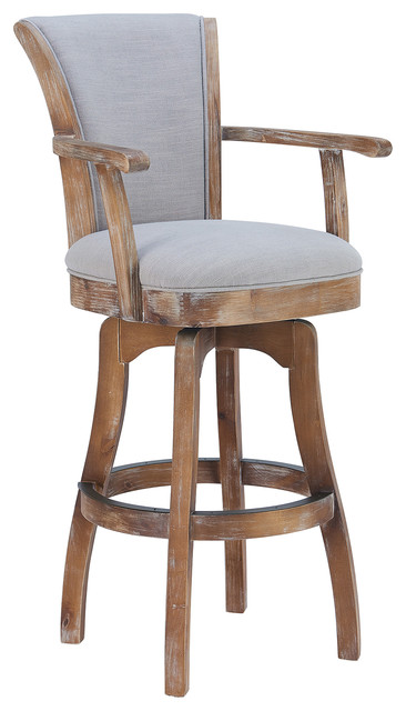 """Malone Arm 26"""" Swivel Counter Stool, Rustic Cordovan and Brown ."""