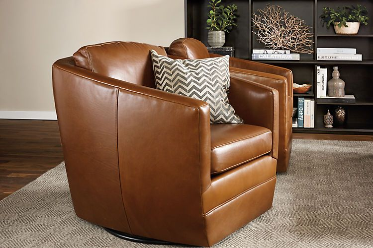 Ford Leather Swivel Chairs - Modern Accent & Lounge Chairs .