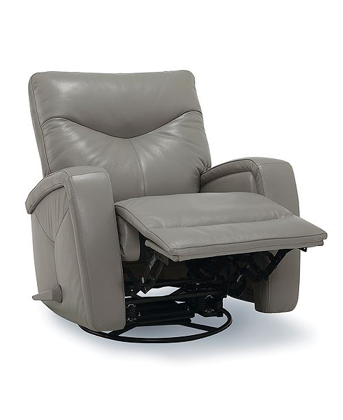 Furniture Erith Leather Swivel Glider Recliner & Reviews .