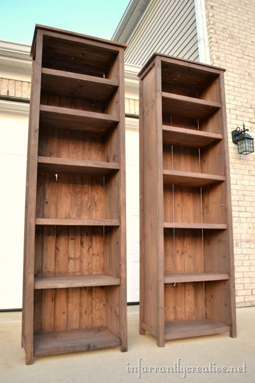 DIY Your Own Bookcase with These Free Plans in 2020 | How to make .