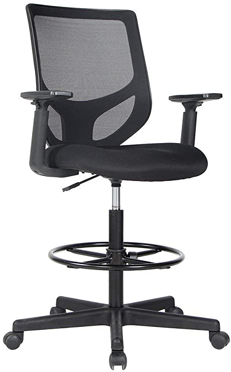 Amazon.com : Drafting Chair Tall Office Chair for Standing Desk .