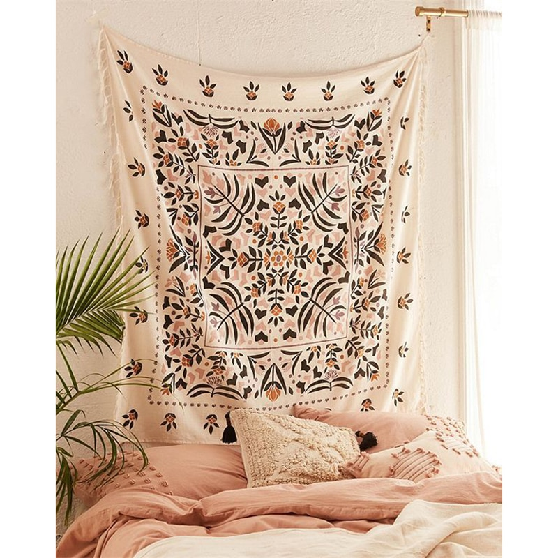 Bohemian Mandala Tapestry Wall Hanging Hippie Psychedelic Tapestry .