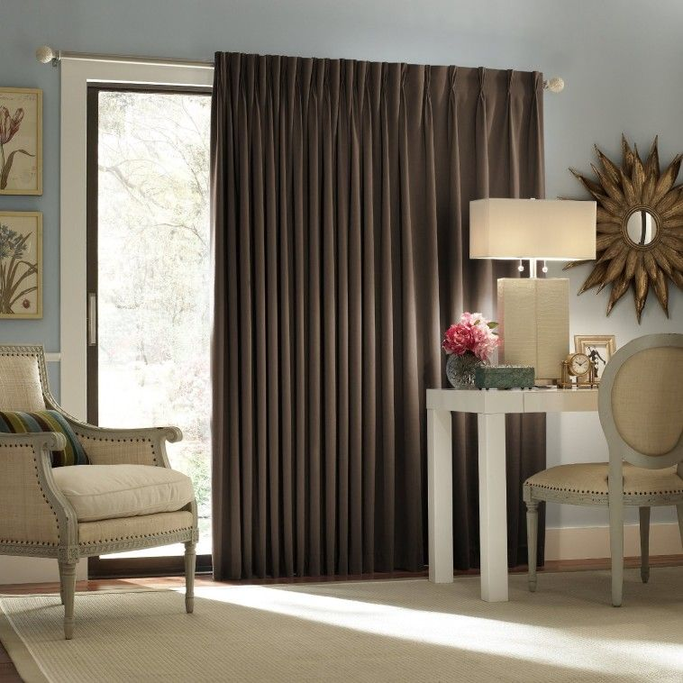 Dark Brown Fabric Thermal Curtain Combined With Contemporary .