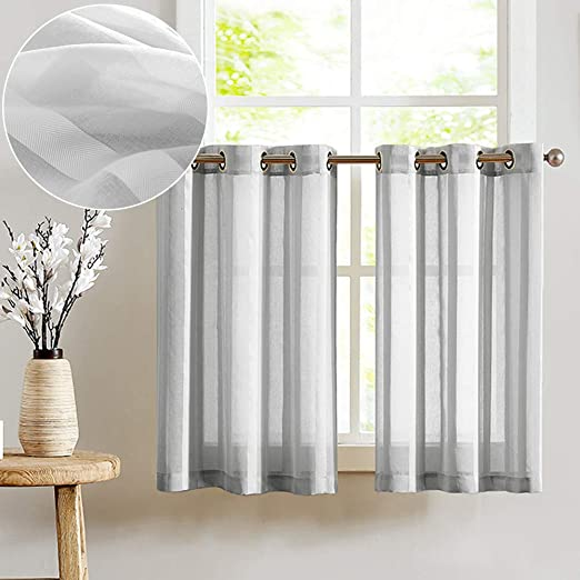 Amazon.com: Tier Curtains for Kitchen 45 inch Length Cafe Curtains .