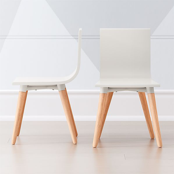 Pint Sized White Toddler Chair, Set of 2 + Reviews | Crate and Barr