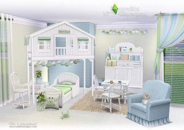 SIMcredible Designs: Magical Place | Sims 4 bedroom, Toddler rooms .