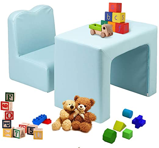 Amazon.com: JOYMOR Multifunctional 2in1 Kids Sofa, PVC Toddler .