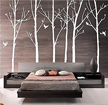 Amazon.com: designyours Set of 6 Tree Branch Wall Decal Birch Tree .