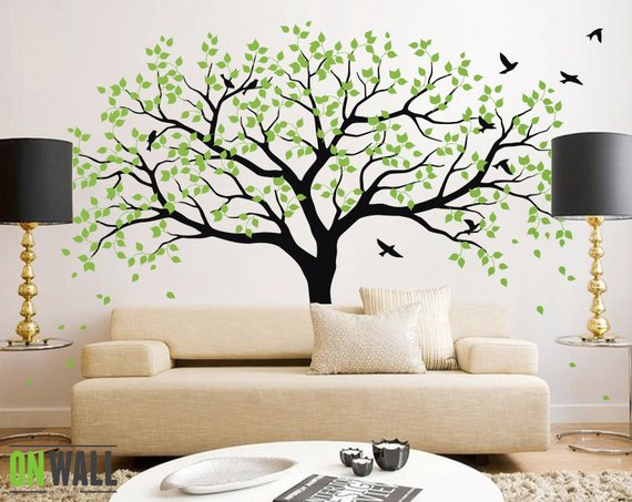 Large Tree Wall Decals Trees Decal Nursery Tree Wall Decals, Tree .
