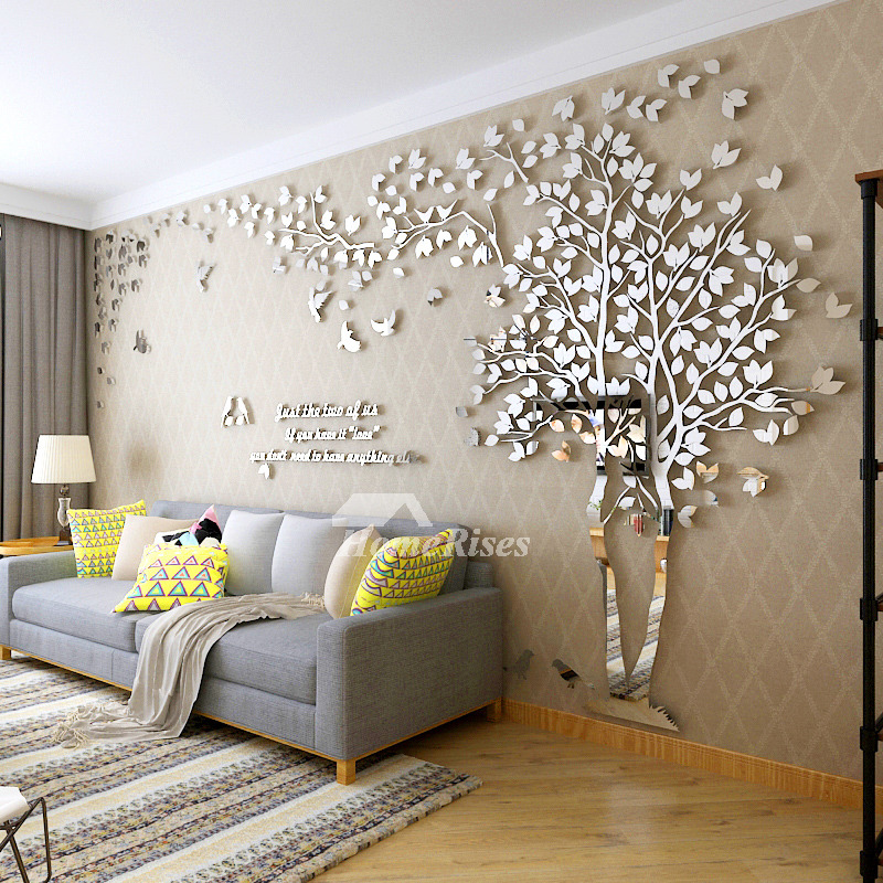 Wall Decals For Living Room Tree Acrylic Home Personalised Mirr