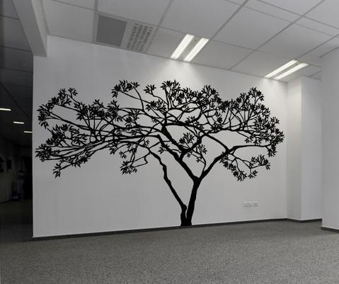 Wide Tree Wall Decal. #AC156 | StickerBra
