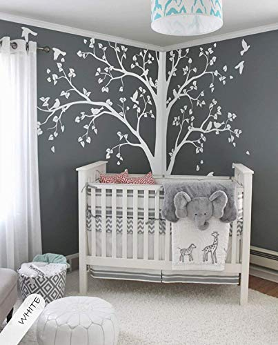 Amazon.com: Large tree decal Huge White Tree wall decals Corner .