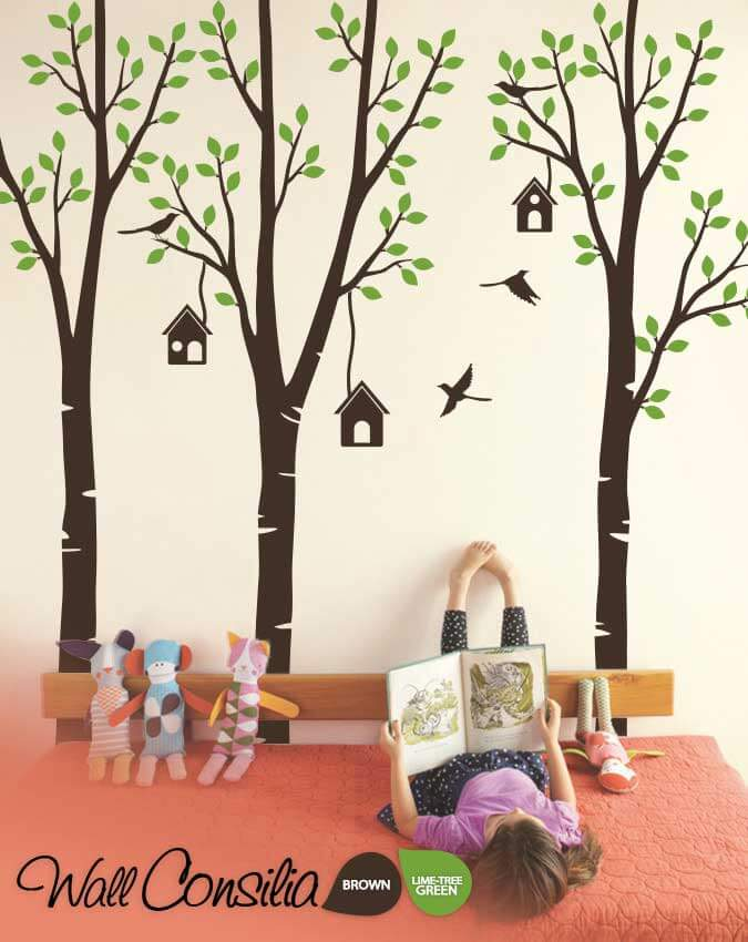 Large Birch trees wall sticker setWallconsilia.c