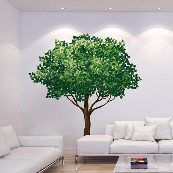 Brewster 110.2 in. x 39.4 in. Tree Wall Decal CR-81125 - The Home .