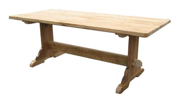 Reclaimed Barn Wood Trestle Table From DutchCrafters Amish Furnitu