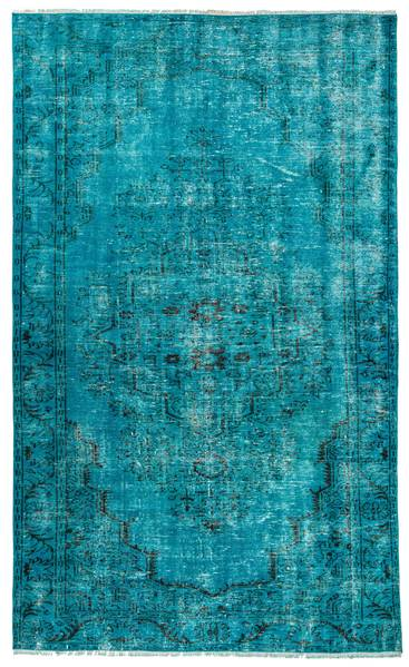 Turquoise Overdyed Rug 6x10   Living room Rug   The Orient Baza