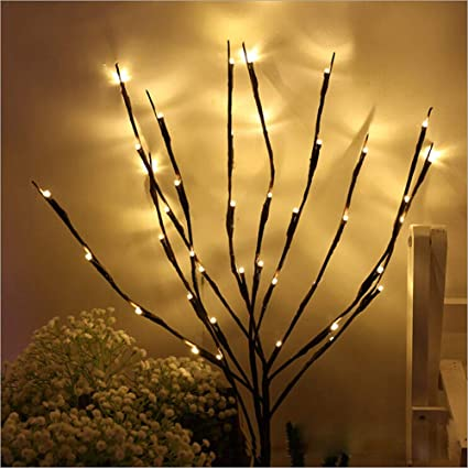Amazon.com : NAWEDA LED Branches Lights Artificial Willow Twig .
