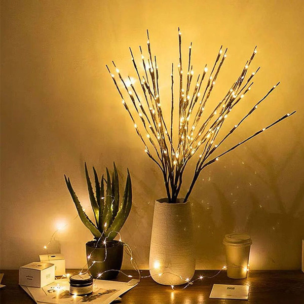 20leds LED Willow Branch Lamp Twig Lights Branches String Light .