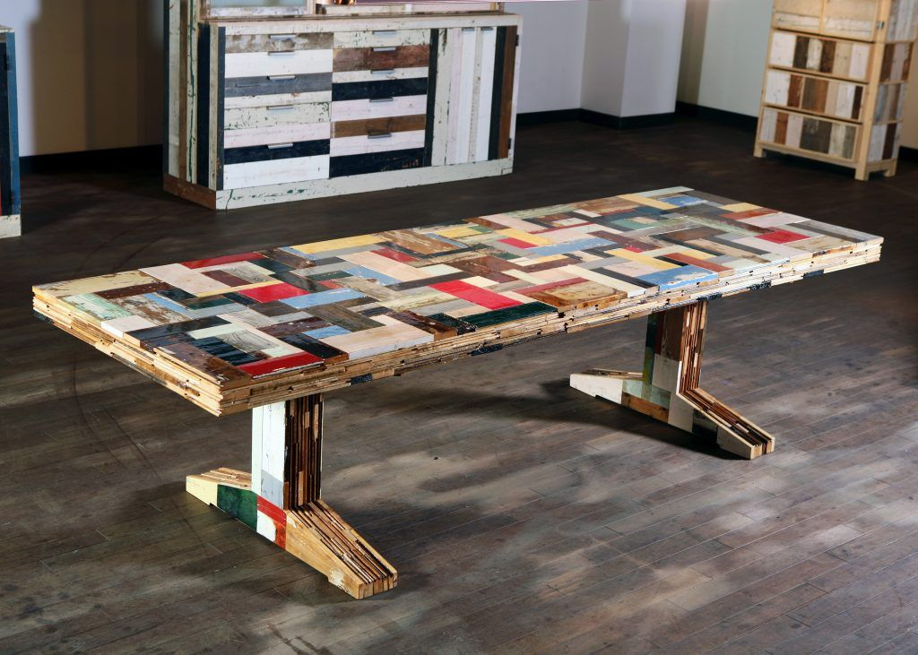 Waste Table in Scrapwood in 2020 | Recycled furniture, Unique .