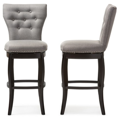 """29"""" Leonice Modern And Contemporary Fabric Upholstered Button ."""
