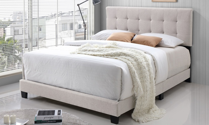 Up To 72% Off on Brookfield Upholstered Bed | Groupon Goo
