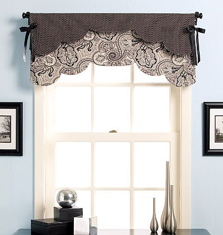 McCall's Pattern B5369 - Curtains for Kitchen? | Valance window .