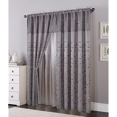 Living Room Curtains with Valance: Amazon.c