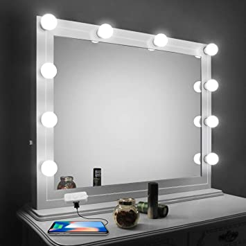 Vanity Mirror Lights Kit, LED Lights for Mirror with Dimmer and .