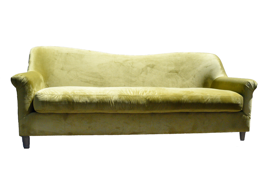 Chartreuse Double Hump Sofa – Ooh! Events Design Cent
