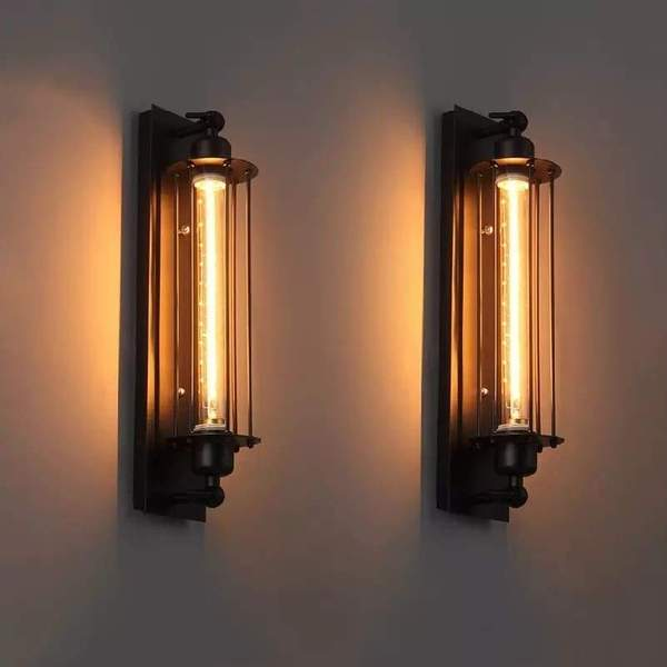 Industrial Style Vintage Bar Wall Lamp – Warm