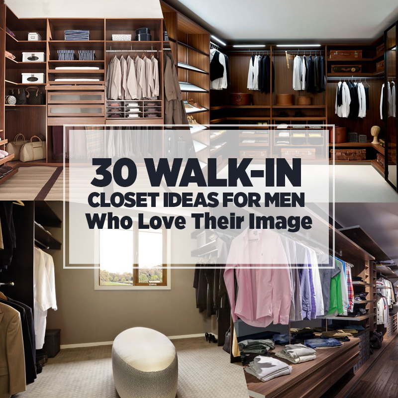 30 Walk-in Closet Ideas for Men Who Love Their Image   Freshome.c