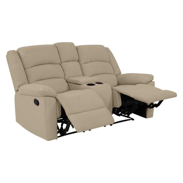 ProLounger 2-Seat Wall Hugger Recliner Loveseat with Power Storage .