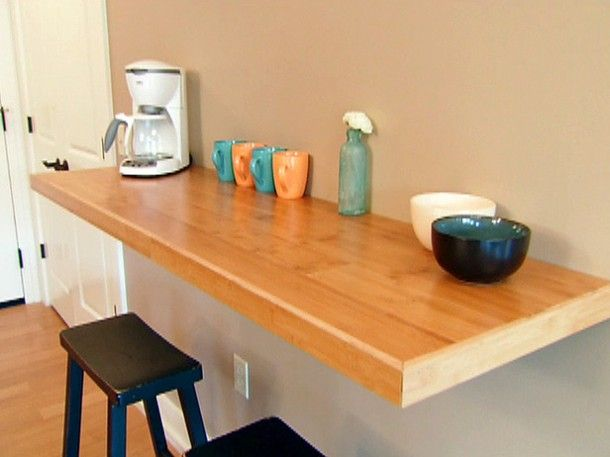 Making Your Own Wall Mounted Kitchen Table   Kitchen bar table .