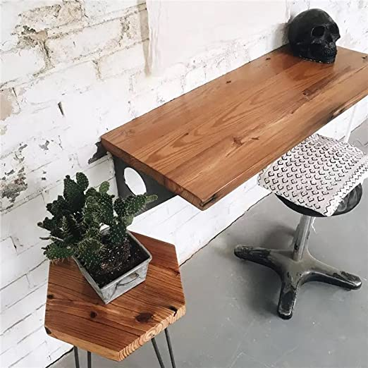 Amazon.com - Industrial Rustic Wall-Mounted Table, Dining Table .