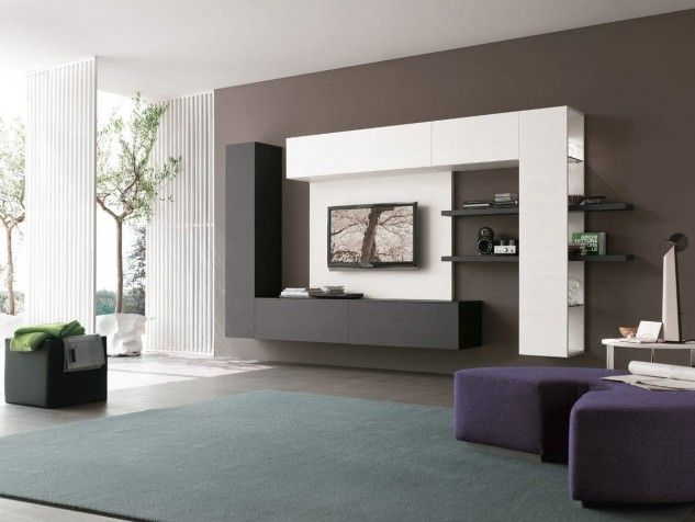 18 Trendy TV Wall Units For Your Modern Living Room | Modern tv .