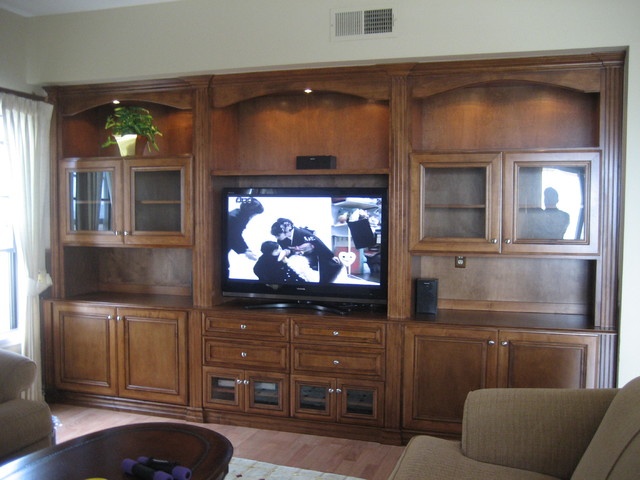 Entertainment Centers and Wall Units - Traditional - Living Room .