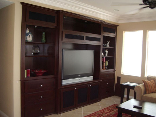 Built in wall unit - Traditional - Living Room - Orange County .
