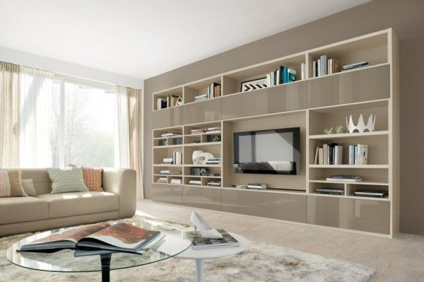 Modern Living Room Wall Units With Storage Inspiration | Living .