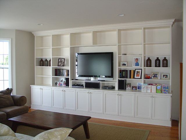 Lacquer Painted Wall Unit - Traditional - Living Room - New York .