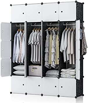 Amazon.com: GEORGE&DANIS Portable Wardrobe Closet Plastic Dresser .