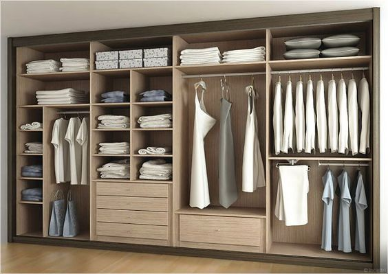 interior design closet arrangement idea | Bedroom closet design .