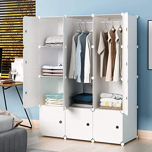 "Amazon.com: KOUSI Portable Wardrobe Closets 14""x18"" Depth Cube ."